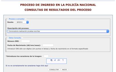 Proceso selectivo Policía Nacional 2020